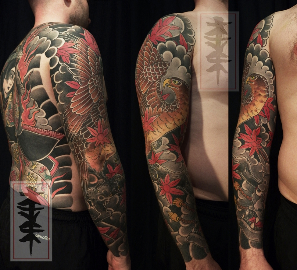 japanese hawk tattoo