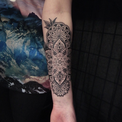 ornamental mandala tattoo
