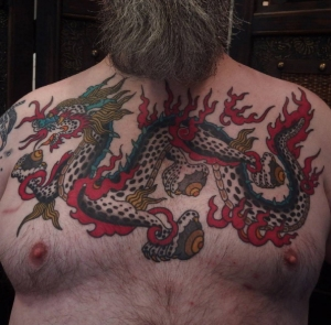 tibetan dragon tattoo